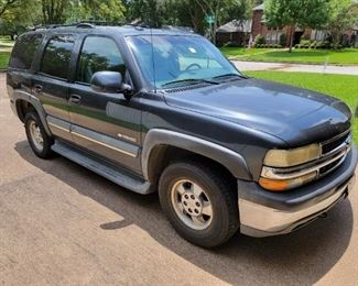 2003 Chevrolet Tahoe 4WD , Grey Leather Interior, Bose Stereo System and Overhead DVD Player. Mileage 147,419.