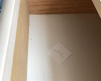 Lane brand for the highly laquered dresser and mirror