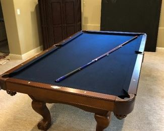 AVAILABLE FOR PRESALE - beautiful Brunswick Contender 8ft pool table with blue felt - contact for price