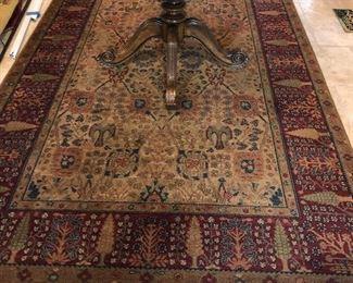 "Karastan Samovar Tea Wash Persian Vase pattern area rug - 100% wool - 5'9""x9'"