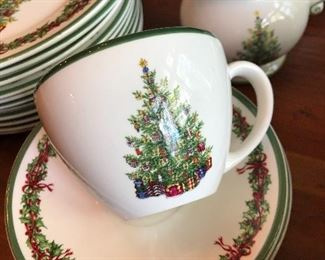 Christopher Radko Holiday Celebrations plates, bowls, saucers, cups