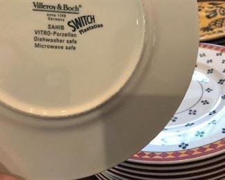villeroy & boch Sahib Switch Plantation Germany 11 salad plates