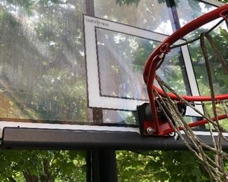 """Lifetime 52"""" Portable Basketball hoop - adjustable height with padding - water or sand fill for stability"""