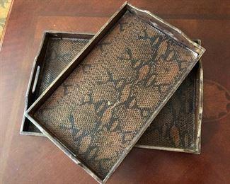 faux reptile decorative trays