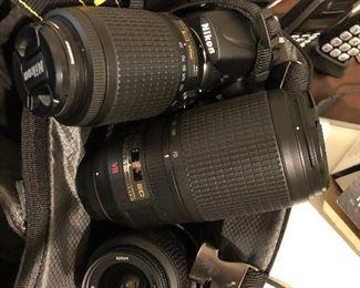 Nikon camera and lenses