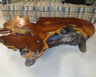 Gorgeous raw edge coffee table