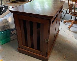Wonderful cherry wood large dog crate