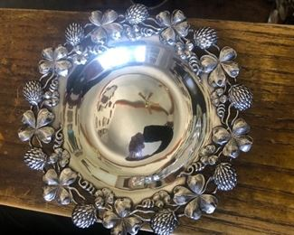 Sterling Silver Clover & Thistle Tray