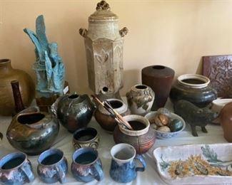 Glen Knod and Ralph Caver pottery