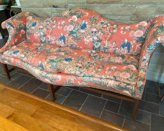 We think Kittinger  made camelback sofa- from decorator Sandy Carter