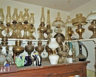 Part of the oil lamp collection
