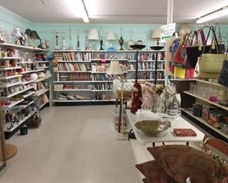 Lamps, candles, dolls, pocketbooks & books (reg price $1 for hardbacks, .50 for paperbacks except a few individually priced books)