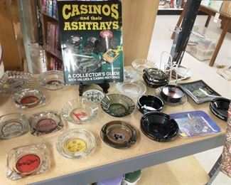 Cool collection of vintage casino ashtrays and book. Most are $8 reg price before % off.