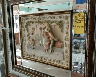 Italian resin 3D mirrored artwork just $139.00 regular price minus discount!!