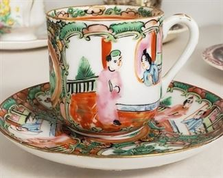 Asian Tea Cup and Suacer