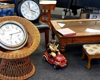 Clocks and Wire Chair