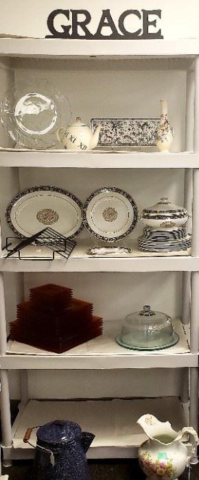 Kitchen Glasswear Vintage Coffee Pot and Pitcher