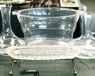WIne Canters Ice Bucket Serving Platter