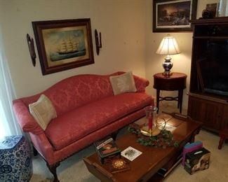 antique sofa, recent new fabric
