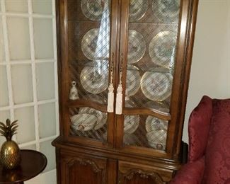 curio cabinet with wire/glass doors
