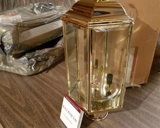 """in-box, never installed Baldwin brass post lantern, 8""""  ($466.00 at store)"""