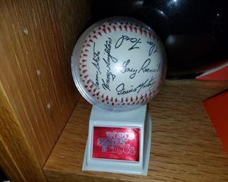 Orioles World Series autographed baseball
