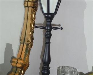 Black old street lamp table lamp