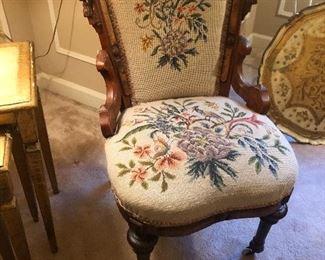Victorian needlepoint chair