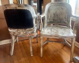rustic chair set