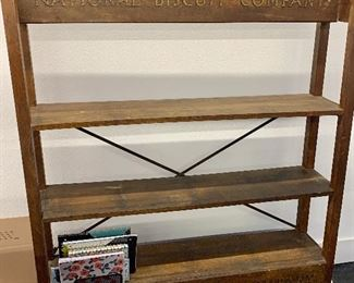 National Biscuit company wooden rack in beautiful condition approx 5 ft wide x 5ft tall LOCAL PICK UP ONLY REDUCED TODAY!