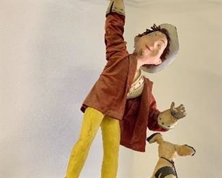 Automaton cowboy with lasso ( works) and little dog spins around LOCAL PICK UP ON THIS ITEM