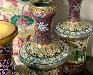 Large collection of Cloisonne