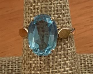 TOPAZ AND GOLD RING 20% OFF TODAY!