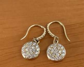 gold & pave diamond earrings SOLD