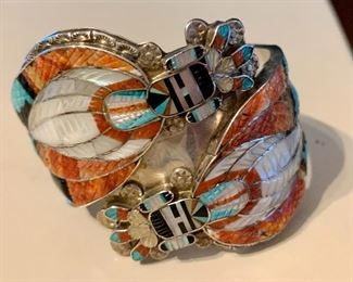 Laguna Zuni bracelet signed