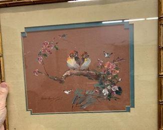 Hsiao-Hsia Tsai Hobbs signed painting birds