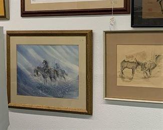 left: artist Paul Kuo Japanese 1920-1995 title: Stranded