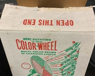 Christmas tree color wheel ( works!) in original box SOLD