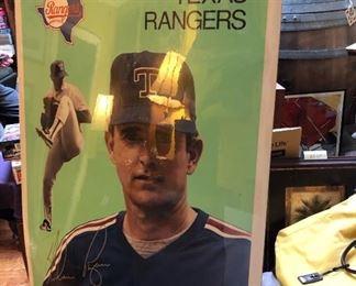 Signed Nolan Ryan Poster