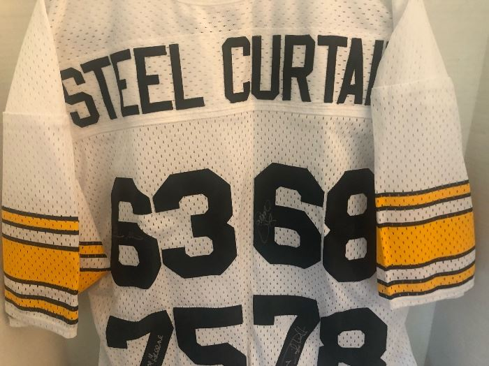 Pittsburgh Steelers Steel Curtain 4x Autographed Jersey COA Authenticated