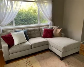 """92"""" sofa w/2 matching pillows $475; additional pillows available @ $10ea"""