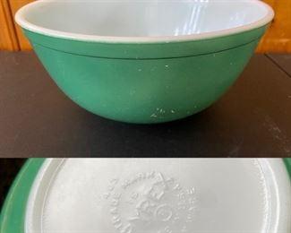 Vintage Pyrex Blue/Green Serving Bowl # 403