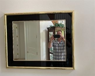 . . . a beautiful accent mirror -- goofy guy in mirror not for sale