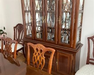 . . . with a magnificent matching china cabinet