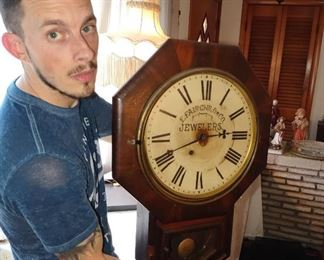 1800s mahogany clock