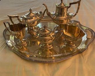Gorham Sterling tea set.