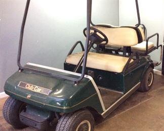 CLUB CAR GOLF CART w BACK SEAT,