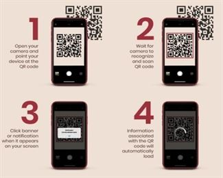 Instructions on how to use QR codes to purchase items.