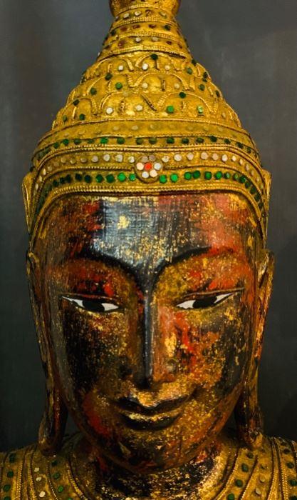 Detail of Antique Full Figure Buddha