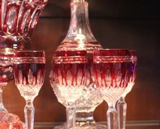 Waterford RARE bohemian crystal set - Decanter does have the top not pictured